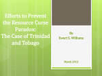 the Case of Trinidad and Tobago.