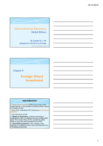 International Business Foreign Direct Investment