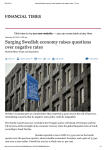 Surging Swedish economy raises questions over negative rates