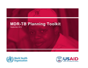 MDR-TB Planning Toolkit