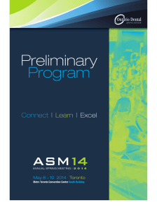 ASM14 Preliminary Guide