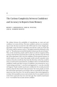 The Curious Complexity between Confidence and Accuracy in
