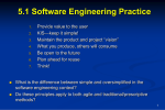 Transparency Masters for Software Engineering: A Practitioner`s