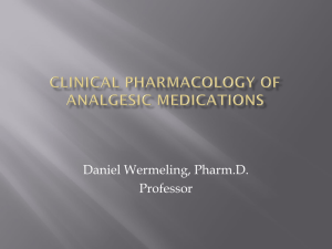 Clincial Pharmacology of Analgesic Medications