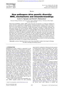 How pathogens drive genetic diversity: MHC, mechanisms and