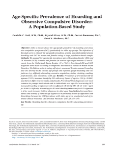 Age-Specific Prevalence of Hoarding and Obsessive Compulsive