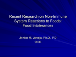 Part 2: Recent Research on Non-Immune System Reactions to Foods
