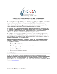 guidelines for marketing and advertising