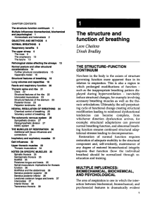 The structure and function of breathing