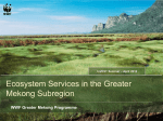 GMS Ecosystem Services Summary (InVEST Work week