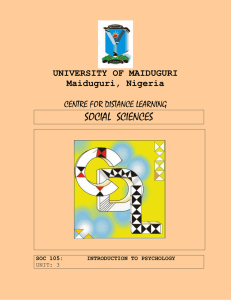 SOC1 - University of Maiduguri