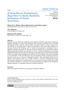 A Gaze-Driven Evolutionary Algorithm to Study Aesthetic Evaluation