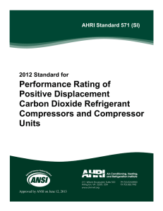 Performance Rating of Positive Displacement Carbon