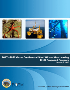 2017-2022 OCS Oil and Gas Leasing Draft Proposed Program