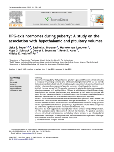 HPG-axis hormones during puberty: A study on the association with