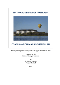 national library of australia conservation management plan
