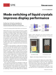 Mode switching of liquid crystals improves display performance