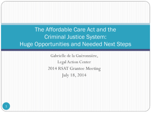 The Affordable Care Act and the Criminal Justice System