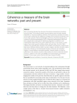 Coherence a measure of the brain networks: past and present