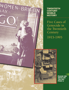 Five Cases of Genocide in the Twentieth Century 1915-1995