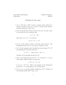 Problems for the exam