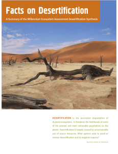 Facts on Desertification - Integrated Drought Management Programme