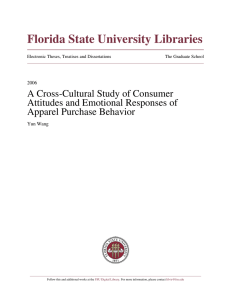 A Cross-Cultural Study of Consumer Attitudes and