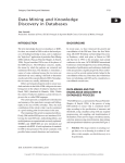 D Data Mining and Knowledge Discovery in Databases