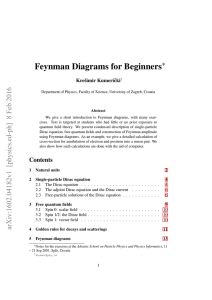 Feynman Diagrams for Beginners