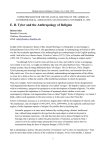 E. B. Tylor and the Anthropology of Religion