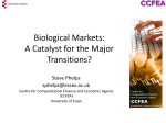 Biological Markets: A Catalyst for the Major Transitions?