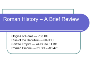 Roman History – A Brief Review