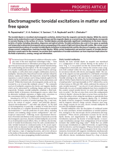 Electromagnetic toroidal excitations in matter and free space