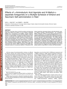 aspartate Antagonists on a Multiple Schedule of Ethanol and