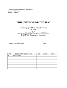 4. in-flight calibration plan