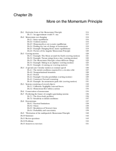 Chapter 2b More on the Momentum Principle