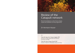 Hauser Report | Review of the Catapult network