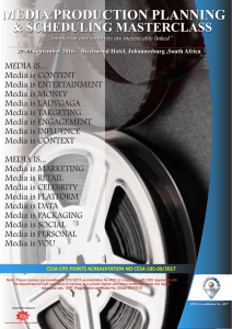 Media Planning and Scheduling Masterclass.cdr