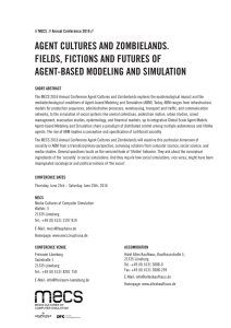 agent cultures and zombielands. fields, fictions and futures of agent