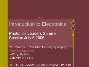 Electronics Powerpoint