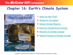 Earth`s Climate System
