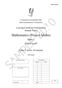 Mathematics (Project Maths) - State Examination Commission