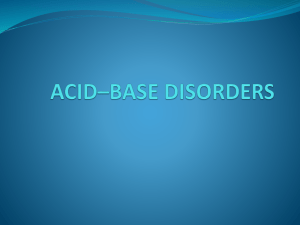 ACID*BASE DISORDERS