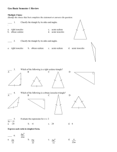 Geo Basic Semester 1 Review Answer Section