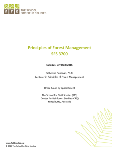 Syllabus: Principles of Forest Management