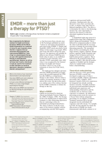EMDR – more than just a therapy for PTSD?