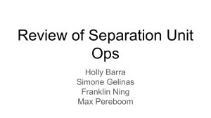 review/theory of separation (mass transfer) unit-ops
