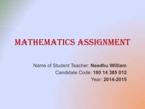 mathematics assignment