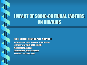 impact of socio-cultural factors on hiv/aids