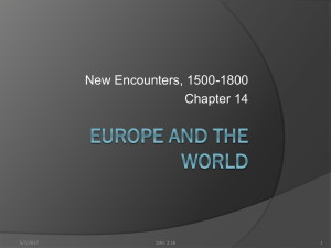 Europe and the World - Mr. Darby`s History
